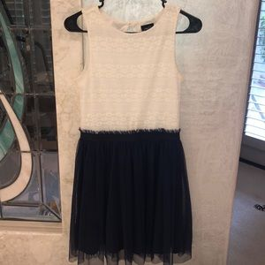 Rue21 white and navy dress